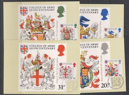 Great Britain 1984 College Of Arms 4v 4 Maxicards (38654) - Maximumkaarten