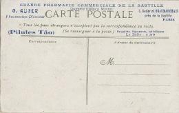 Santé  - Publicité Vin Tonique Du Docteur Delagarde - Pharmacie Auger La Bastille Paris 75 - Pilules Tao - Santé