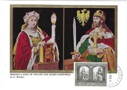 Miesco I, King Of Poland And Queen Dabrowka, 3.3. 1966 - Cartes-Maximum (CM)