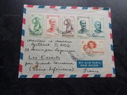 MADAGASCAR (1953) Lettre TANANARIVE A LES ESSARTS - Madagascar (1889-1960)