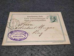 AUSTRIA STATIONERY CARD HUSIATYN  UCRANIA TO PRAHA OCCUPATION 1900 - Entiers Postaux