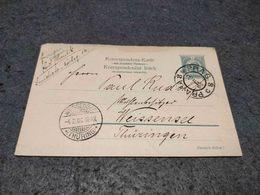 AUSTRIA STATIONERY CARD HUSIATYN PRAHA TO WEISSENSEE 1906 - Interi Postali