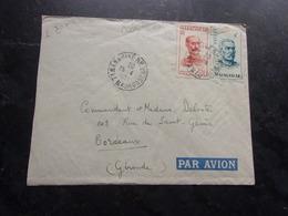 MADAGASCAR (1951) Lettre TANANARIVE A BORDEAUX (timbres Perforés) - Madagascar (1889-1960)