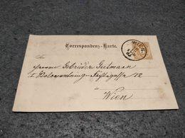AUSTRIA STATIONERY CARD WIEN CANCEL 1885 - Ganzsachen