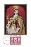 Queen Hedwig By G.Matejko , 3.3. 1966 (2scans) - Cartes-Maximum (CM)