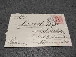 AUSTRIA STATIONERY CARD GRAZ TO EISENSTEIN 1905 - Ganzsachen