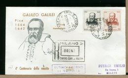 ITALIA - ULTIMO GIORNO VALIDITA - 1964 - GALILEO GALILEI - Con Timbro Arrivo - 6. 1946-.. Repubblica