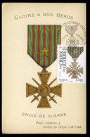 Carte Maximum - Centenaire De La Création De La Croix De Guerre Verdun 8-4-2015 - Cartes-Maximum