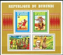 Burundi 1992 OCBn° Bloc 128  *** MNH Cote 22,50 Euro  Danses Dansers Musique - 1990-99: Neufs