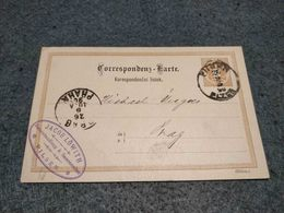 AUSTRIA STATIONERY CARD PILSEN TO PRAHA 1890 JEW COMPANY - Ganzsachen