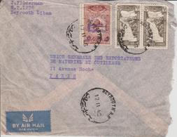 Liban Lettre De 1946 Par Avion Pour La France - Liban