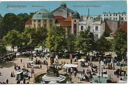 Bremerhaven Markt Mit Buergermeister Smidt Denkmal ANIMATION FOULE MARCHE1918 - Bremerhaven