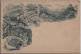 Kurhaus Tarasp Engadin, Villa - Litho Vorläufer H. Guggenheim - GR Grisons