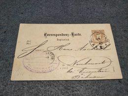 AUSTRIA STATIONERY CARD ASAD BAHN STATION CANCEL 1888 - Ganzsachen