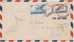 Liban Lettre De 1947 Par Avion Pour La France - Lebanon