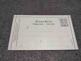 AUSTRIA STATIONERY CARD UNUSED 10 KRUZERS BLUE W/ OVERCHARGE 1 PIASTRE - Ganzsachen