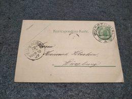 AUSTRIA STATIONERY CARD WURBENTHAL TO VURZBURG 1907 - Ganzsachen