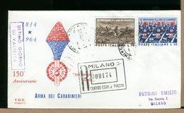 ITALIA - ULTIMO GIORNO VALIDITA - 1963 - CARABINIERI - Con Timbro Arrivo - F.D.C.