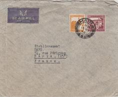 Palestine Lettre De 1946 Par Avion Pour La France - Palestine