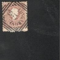 Lomardei-Venetia1859:Michel 10 II Used(still Much Of Envelope On Back Of Stamp)good Cancellation Cat.Value$14.00 - Lombardo-Veneto