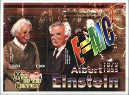 GHANA, 2000, ALBERT EINSTEIN, YV#B.393, SS, MNH - Albert Einstein