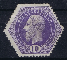 Belgium: OBP TG3  MH/* Flz/ Charniere  1871 - Telegraafzegels