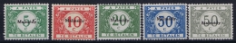 Belgium: OBP OC79 - OC83  MH/* Flz/ Charniere  Malmedy - Guerre 14-18