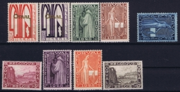 Belgium: OBP 258 - 266 Postfrisch/neuf Sans Charniere /MNH/**  Nr 262 Is MH/*, Orval 1928 - Belgique