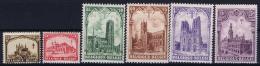 Belgium: OBP 267 - 272 Postfrisch/neuf Sans Charniere /MNH/**  1928 267 Has Spots - Belgique