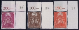 Luxembourg  Mi Nr 572 - 574   Postfrisch/neuf Sans Charniere /MNH/** 1957 Corner Pieces - Ungebraucht