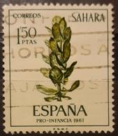 SAHARA ESPAÑOL 1967 Child Welfare - Flora. USADO - USED. - Sahara Espagnol