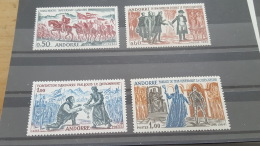 LOT 396892 TIMBRE DE ANDORRE NEUF** N°167 A 170 VALEUR 85 EUROS  LUXE - French Andorra