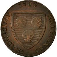 Monnaie, Grande-Bretagne, Salon Woollen Manufactory, Halfpenny Token, 1793, TB+ - 1662-1816 : Anciennes Frappes Fin XVII° - Début XIX° S.