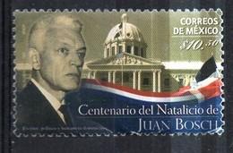 PIA - MESSICO  - 2012 : Centenario Della Nascita Di Juan Bosch - Messico