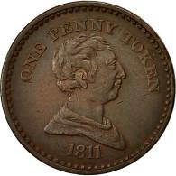 Monnaie, Grande-Bretagne, Civitas Bristol, Penny Token, 1811, TTB, Cuivre - 1662-1816 : Anciennes Frappes Fin XVII° - Début XIX° S.