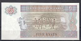 T Banknote 1996 - Kyats 5 - Thailand
