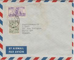 Syrie Lettre De 1956 Par Avion Pour La France - Syrie