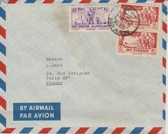 Syrie Lettre De 1956 Par Avion Pour La France - Siria