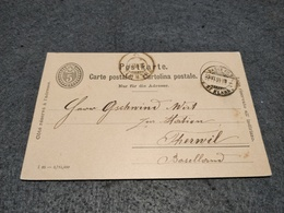 SWITZERLAND STATIONERY CARD BASEL TO THERWIL 1899 - Ganzsachen