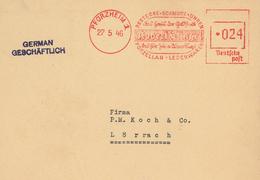 Pforzheim 1946 Bestecke Schmuck Uhren Robert Klingel Porzellan Leder Aptierter Stempel - Zona Francese