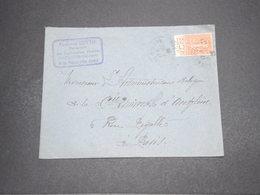 FRANCE - Type Semeuse Avec Bande Pub Sur Enveloppe De Bourg D 'Oisans Pour Paris En 1929 - L 16312 - Marcophilie (Lettres)