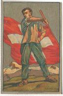 SUIZA ENTERO POSTAL FIESTA NACIONAL 1912 BANDERA FLAG - Sobres