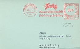 1951 Reutlingen Saitz Zuverlässig Fachgeschäft Bekleidung Ausstattung - Briefe U. Dokumente