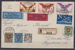SUISSE  POSTE AERIENNE 1930: Belle Lettre Recommandée Pour Dresden (Allemagne), Forte Cote, TB - Airmail