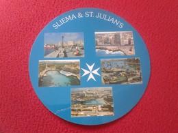 PRECIOSA POSTAL CIRCULAR CIRCLE POST CARD POSTCARD CARTE POSTALE MALTA SLIEMA & ST. JULIAN'S  VER FOTO/S Y DESCRIPCIÓN. - Malta