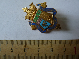 Insigne Décoration Broche Breloque Ancienne  émaillée Groupe  Artistique De Flers De L'orne - Army & War