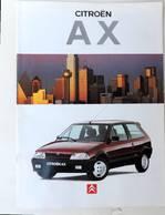 Plaquette Citroen AX - Werbung