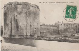 Ham- Vue Du Chateau Sur Le Canal - Ham