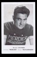 Carte Format CP Cyclisme, Vélo : Bernard GAUTHIER, Mercier  Hutchinson. Voir Description Détaillée. - Cyclisme