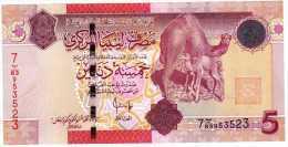 Libya, 5 Dinars, 2008 (2009), P-72, UNC - Libië